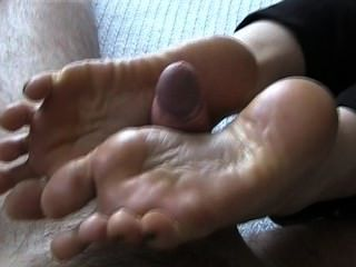 footjob mit cumplay