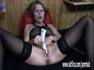 extreme Doppel Faust gefickt blonde Milf